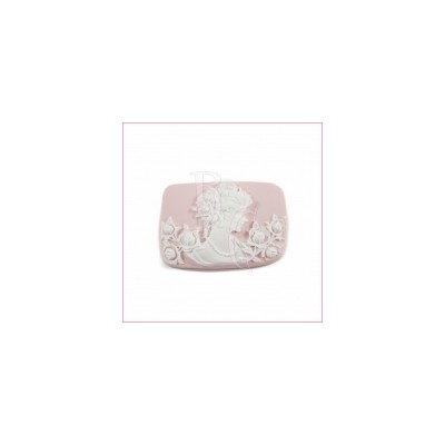 Cammeo in resina donna bianca