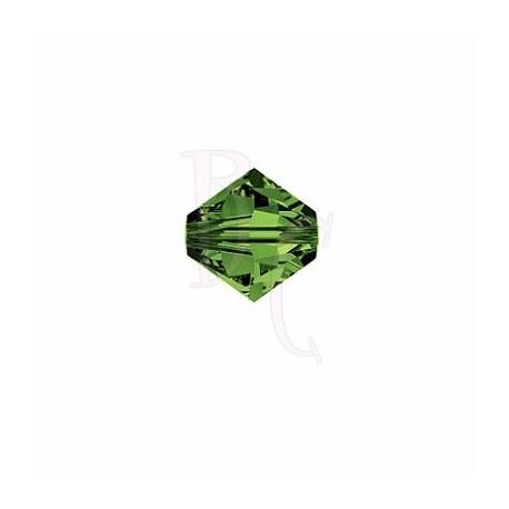 Bicono swarovski 5328 4 MM Green Tourmaline