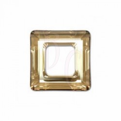 Square ring 4439 20 MM Crystal golden shadow