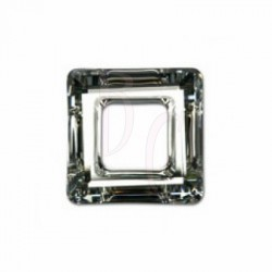 Square ring 4439 20 MM Crystal comet argent light