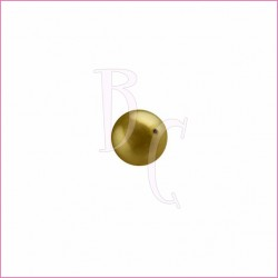 Perla swarovski 5810 4MM Antique Brass