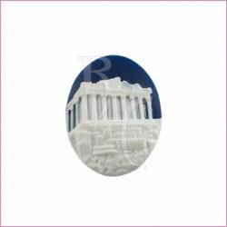 Cammeo in resina tempio greco bianco