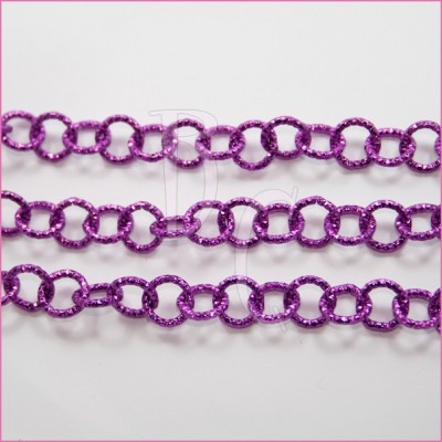 Catena tonda diamantata 12 mm fucsia