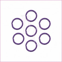 Catena tonda diamantata 24 mm viola