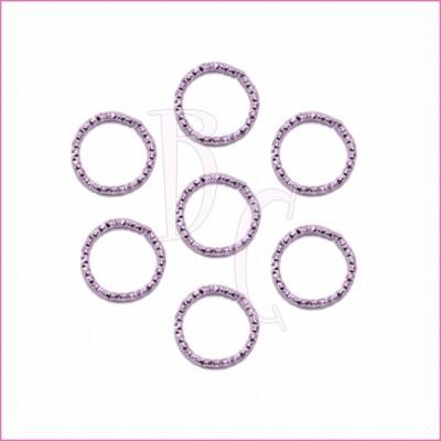Catena tonda diamantata 24 mm lilla