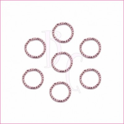 Catena tonda diamantata 24 mm rosa