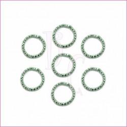 Catena tonda diamantata 24 mm verdino