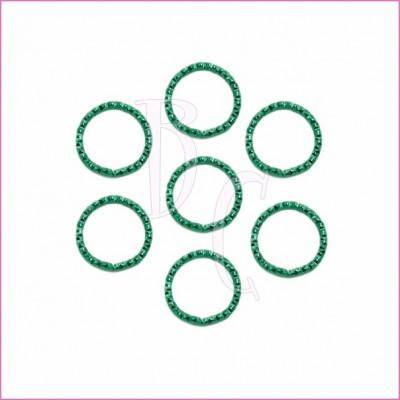 Catena tonda diamantata 24 mm verde scuro