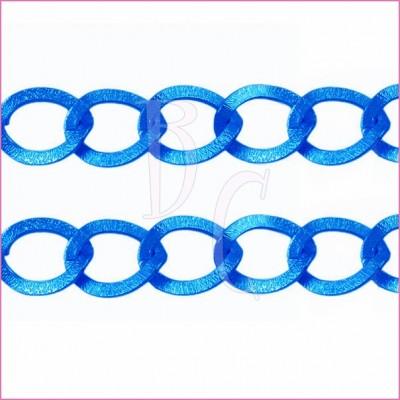 Catena ovale ondulata 20 mm blu elettrico