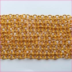 Catena tonda liscia lucida - 12 mm giallo ocra