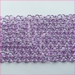 Catena tonda liscia lucida - 12 mm lilla