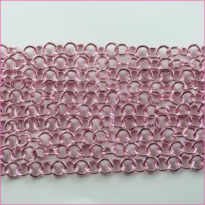 Catena tonda liscia lucida - 12 mm rosa