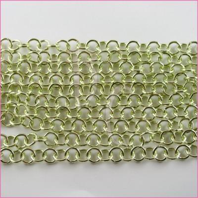 Catena tonda liscia lucida - 12 mm verde acido
