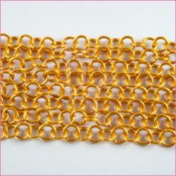 Catena tonda liscia opaca - 12 mm giallo ocra