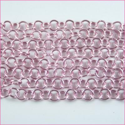Catena tonda liscia opaca - 12 mm rosa