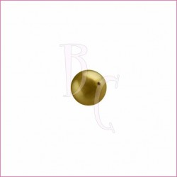 Perla swarovski 5810 6MM Antique Brass