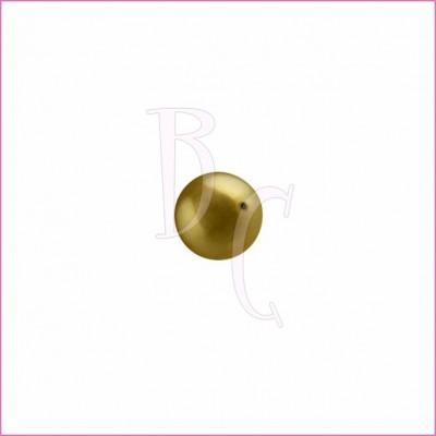 Perla swarovski 5810 8MM Antique Brass
