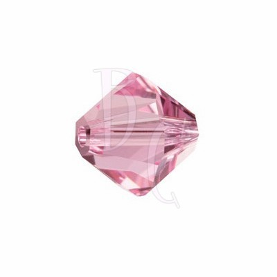 Bicono swarovski 5328 6 MM Light rose - 10 pezzi