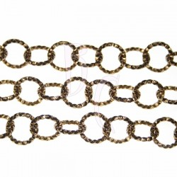 Catena tonda diamantata 13 mm bronzo