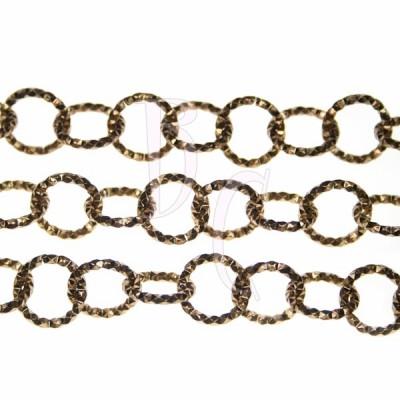 Catena tonda diamantata 13 mm bronzo