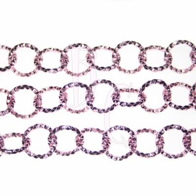Catena tonda diamantata 13 mm rosa