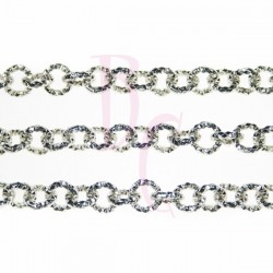 Catena tonda diamantata 8 mm argento