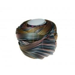 Seta Shibori color Metals on silver x15cm