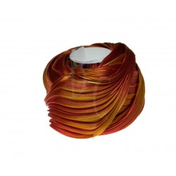 Seta Shibori color Orange with gold x15cm