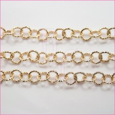 Catena tonda diamantata 12 mm oro