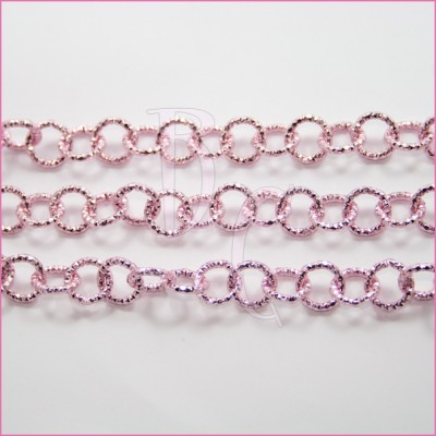 Catena tonda diamantata 12 mm rosa