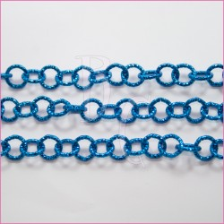 Catena tonda diamantata 12 mm blue