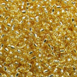 Rocaille 8/0  0003 Silver Lined Gold 10 gr