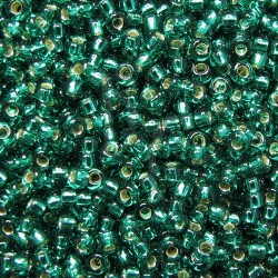Rocaille 8/0 0017 Silver Lined Emerald 10 gr