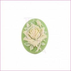Cammeo in resina fiore beige