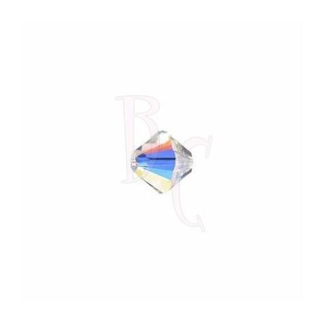 Bicono swarovski 5328 3MM Crystal ab - 50 pezzi