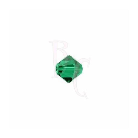 Bicono swarovski 5328 3MM Emerald - 50 pezzi