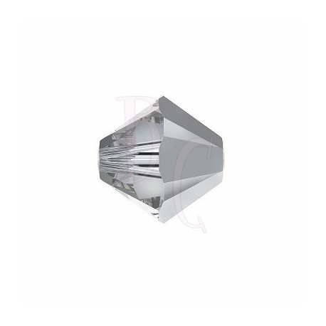 Bicono swarovski 5328 6 MM Comet argent light - 10 pezzi