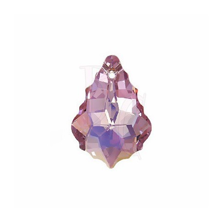Pendant Baroque 6090 22x15 MM Light Amethyst ab