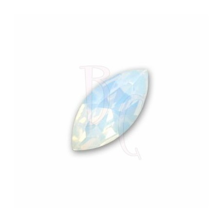 Navette Fancy Stone 4228 15x7 MM White Opal