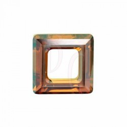 Square Ring Fancy Stone 4439 20 MM Crystal Copper