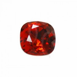 Cushion Cut Fancy Stone 4470 12 MM Indian Red