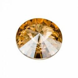 Rivoli Round Stone 1122 18 MM Crystal golden shadow