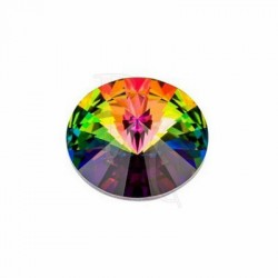 Rivoli Round Stone 1122 16 MM Crystal Vitrail Medium