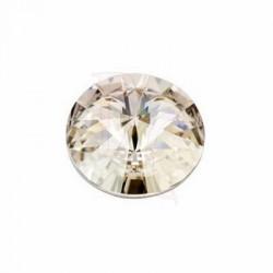 Rivoli Round Stone 1122 16 MM Crystal Silver Shade