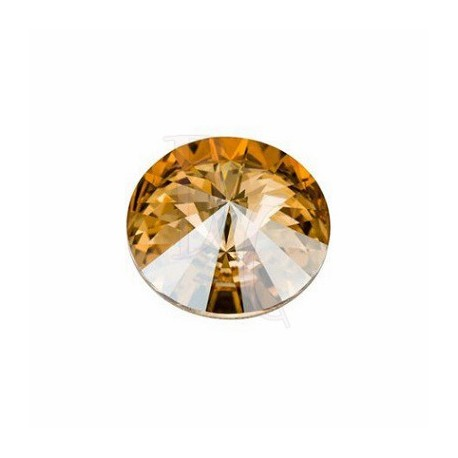 Rivoli Round Stone 1122 16 MM Crystal Golden Shadow