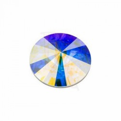 Rivoli Round Stone 16 MM Crystal Aurora Boreale