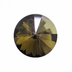 Rivoli Round Stone 1122 18 MM Crystal Bronze Shade