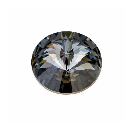 Rivoli Round Stone 1122 18 MM Crystal silver night