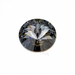 Rivoli Round Stone 1122 16 MM Crystal Silver Night