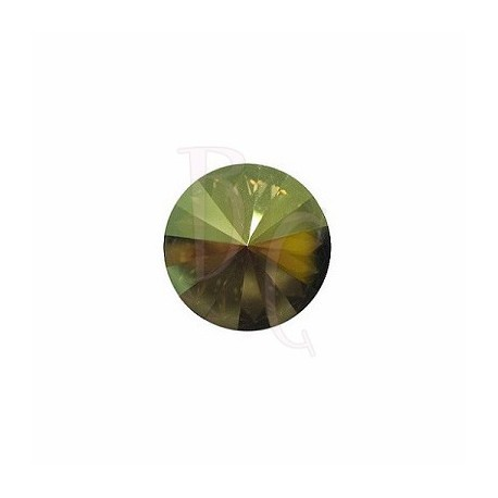 Rivoli Round Stone 1122 14 MM Crystal Iridescent Green